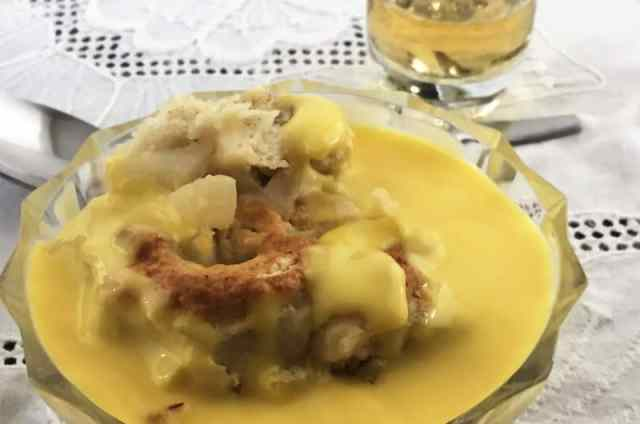 Roly Poly pudding with custard